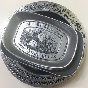 MIXED LOT OF 5 Wilton Armetale Pewter Trays & Bowl